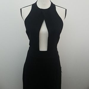 Nasty Gal Plunging Necking halter Dress